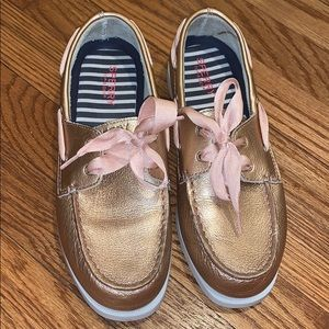 Rose gold sperrys